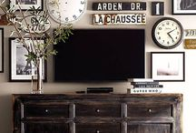 TV stand and surrounding wall