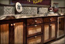 Galvanized cupboard