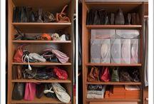 Ankleidezimmer Ideen / Platz sparen + Ordnung halten + Überblick schaffen