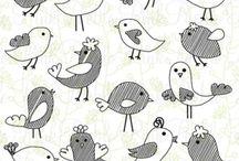 Vögelzeichnungen