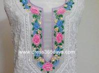 Parsi Neckline Chikankari Fabric
