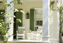 Inspired Porches / When the weather's warm, it's always wonderful to gather in the coolness of the porch with friends.  Porch entertaining is outdoor living at its finest.  Decorating ideas for interior porches, front porches, side porches, and back door porches.   / by Diane :: An Extraordinary Day!