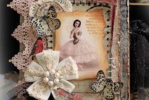 Винтажные открытки ручной работы для Жанны