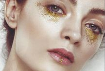 Editorial Glitter / Make Up for editorials or looks that could work for them. Lots of glitter.