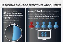 digital signage style dark