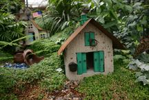 Fairy Gardens / Inspiration for making fairy gardens -- hours of imagination fun! / by Laura {Peace but not Quiet}