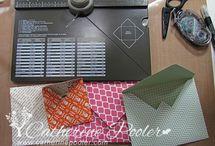 "Crafty ""Envelope Punch Board"" / by Posh Mc"