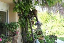 Trädgård terass