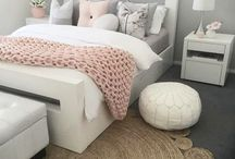 Pink White and Gray bedrooms