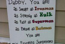 Daddy stuff / Søde og sjove ideer til far