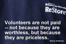 Volunteering / Volunteer and give back.