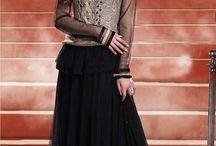 Koti Style Salwar Suit / Designer Anarkali Suits designed with handmade croshio jacket or koti
