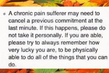 Chronic Pain syndrome / It's now more recognised but still often misunderstood .