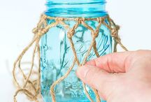 Mason jar fishnet