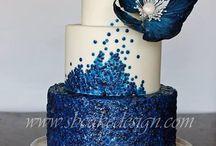 Torte sui toni dell'azzurro/blu