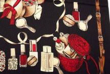 Mantero Perfume Bottle silk scarf