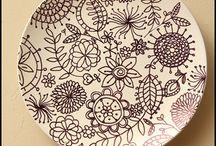 paintin' pottery!!