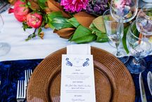 Wedding Table Settings / Table centerpieces, runners, chair decor, place-settings