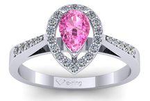 Inele de logodna cu safir roz