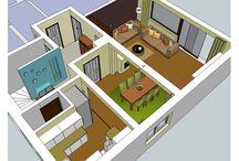 Raumplanung 3D sketchUp / Um Ihren Umbau perfekt zu planen ist eine 3D sketchUp Planung perfekt.
