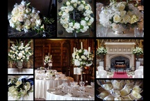 Highclere Castle weddings / A selection of wedding flowers including Hand Tied Bridal Bouquets, candelabras, button holes, corsages, table centres and top table displays) from some of our many weddings at Highclere Castle.  We are recommended florists at this venue.