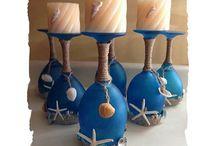 ποτήρια ανάποδα με κερια