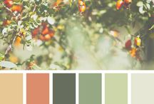 Wardrobe Color Palette: Seamwork Design Your Own Wardrobe Challenge / Neutrals: pecan, warm grey, dusky black, navy, off white  Colors: forest green, mint green, pistachio green, grapefruit pink  Prints: brown paisley, warm florals with small to medium flowers, stripes
