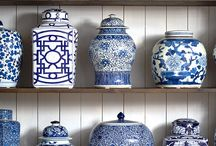 Blue and white / Blue and white decor, chinoiserie style, delft ware, coastal, travel home decor, exotic voyages from another age.