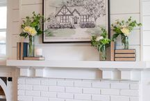 fireplace + mantle