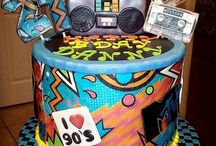 90s themed cake