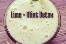 Detox / Natural Detox drinks recipes and stuff like that