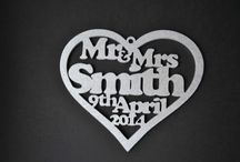 Wedding Gifts / Personalised Wedding gifts made to order.