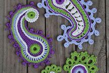 Paisley floral crochet floral