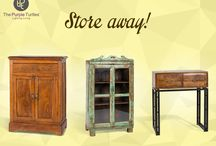 Furniture at The Purple Turtles :) / A board with all the furniture available at The Purple Turtles!