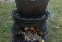 wheel fire pit