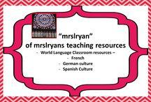 #5 mrslryansteachingresources / World Language teacher resources