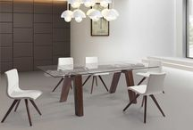 Modern Extendable Dining Walnut Finish Collection