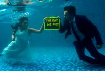Pre Wedding Under Water Shoot / After all the research and  a very short time span we had here is The most awaited pre wedding shoot pics of our life , we did an underwater shoot ... was just the most amazing experience and moments to Cherish for a lifetime