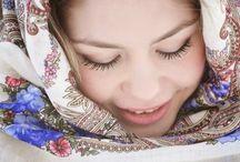 девушка в русском стиле