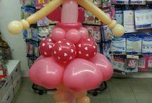 Куклы, девочки / Куклы, девочки из воздушных шаров