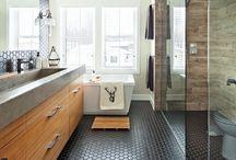 Cuisine et salle de bain / inspiration rustique contemporain chic