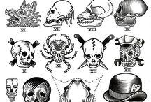 Skulls tattoo old school