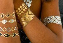 Tattoo métalliques Or et Argent / Tatouages temporaires en Or et Argent venu tout droit des Etats Unis.