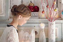 Vases recouverts de dentelle
