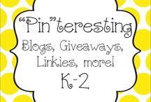 """Pin""teresting Blogs, Giveaways / Pin your blogs you follow, giveaways, linkies, etc here! / by Hanging Out In First"