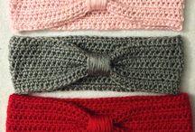 Crochet lady headbands