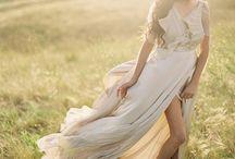 bridal shoot boho