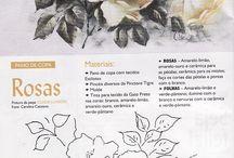 schemi fiori dipingere