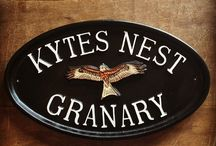 Signs & Plaques / Lovely personalised cast signs handmade in the UK from solid cast metal & hand painted using traditional enamel paint.  To create your own visit http://www.signcast.co.uk / by Yester Home | Traditional Ironmongery