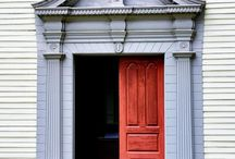 Buildings with character / Older buildings with beautiful doors, windows and quality visual elements. / by Kim Rivard